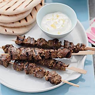 Middle Eastern Lamb Skewers.