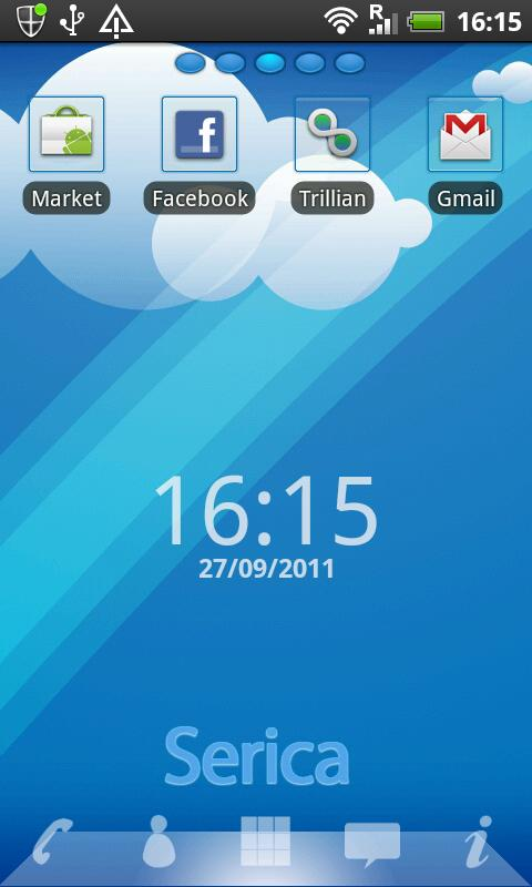 GO Launcher Ex Theme Serica - screenshot