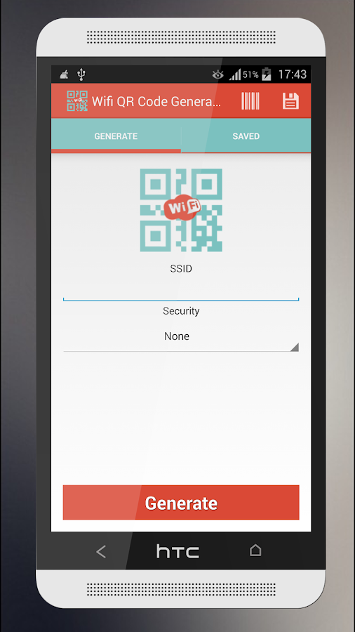 Wifi QR Code Generator- screenshot