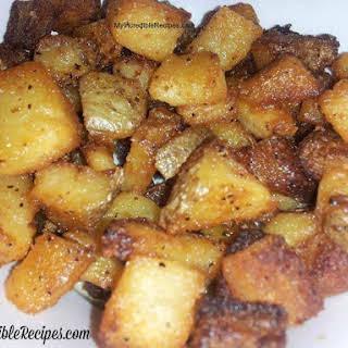 Crispy Oven Roasted Parmesan Potatoes.
