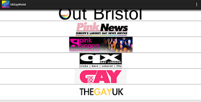 Screenshot of UK Gay World