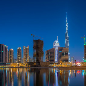 The Towering Burj Khalifa by Andy Arciga (www.arcigaandy.com) - Buildings & Architecture Office Buildings & Hotels ( , city, night, Urban, City, Lifestyle )
