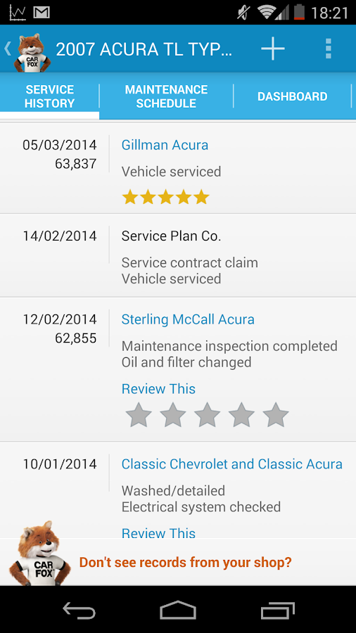 myCARFAX - Car Maintenance app - screenshot