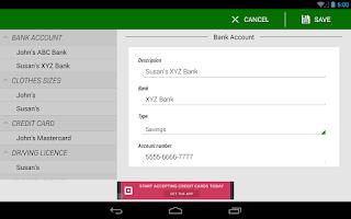 Screenshot of Password Manager Lite