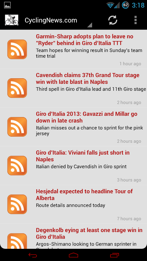 Pro Cycling News - screenshot