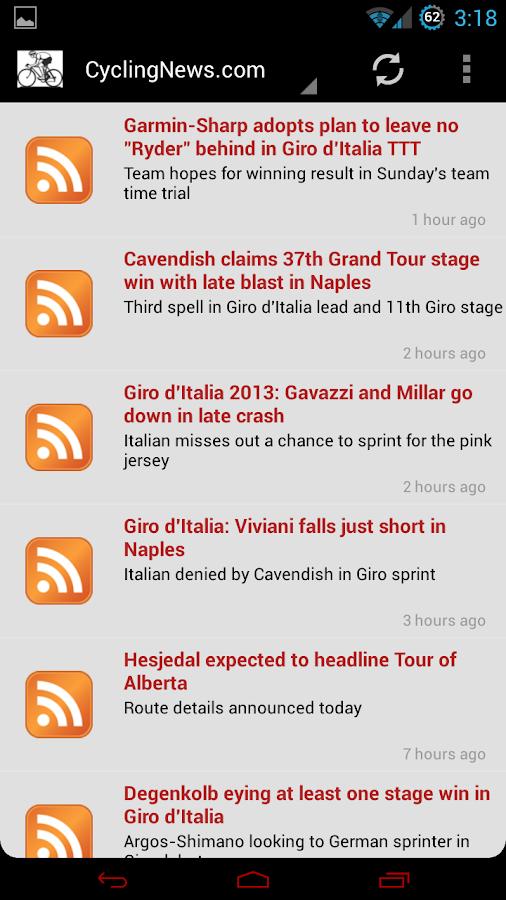 Pro Cycling News - screenshot
