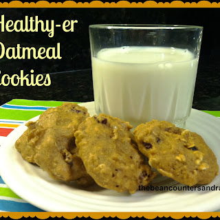 Healthy-er Oatmeal Cookies