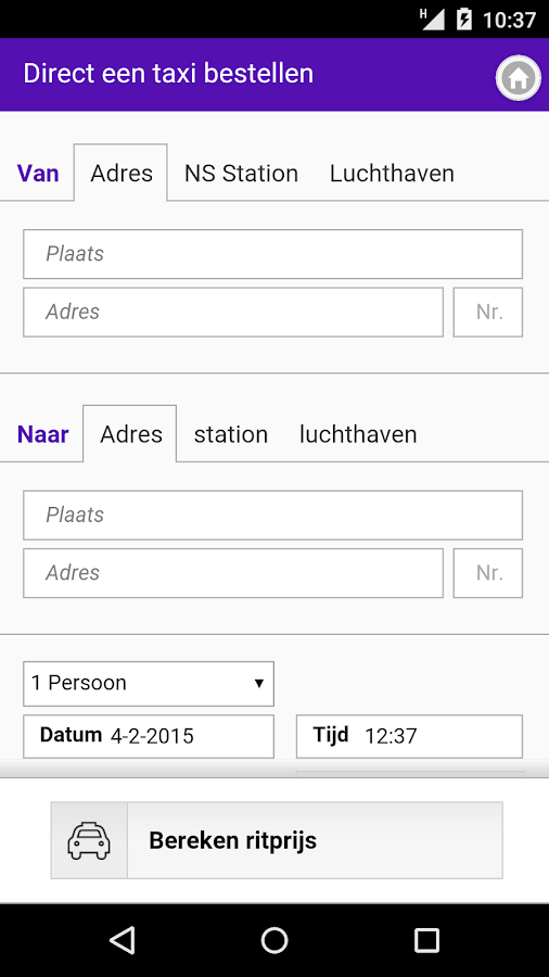 My Taxi Centrale Amsterdam- screenshot