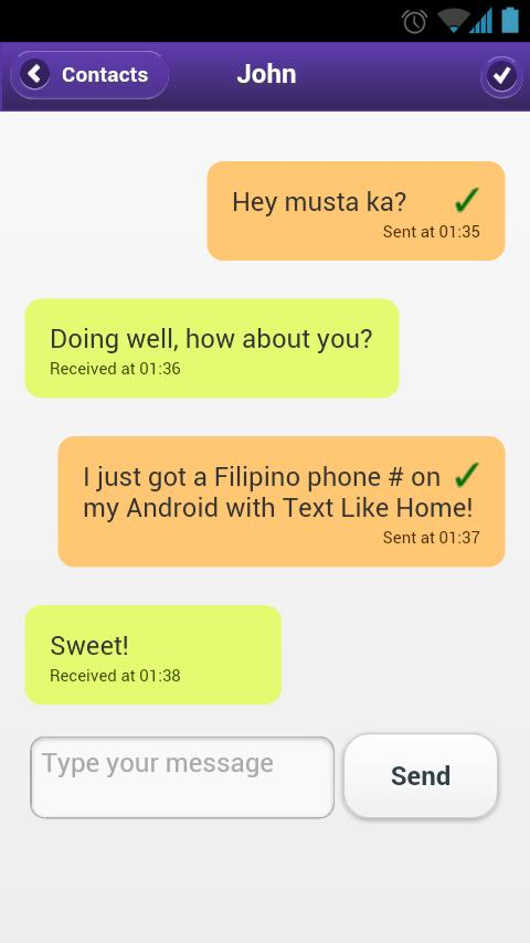 Text Like Home Philippines SMS - screenshot
