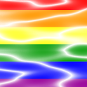 Gay Pride Animated Waves logo