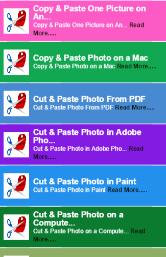 Cut and Paste Photo Guide