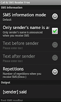 Screenshot of Call & SMS Reader Free