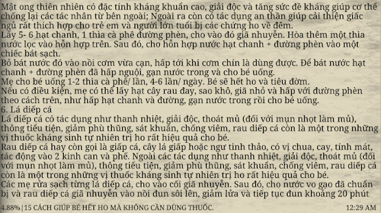Cẩm Nang Bài Thuốc Dân Gian- screenshot thumbnail