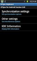 Screenshot of KTSync