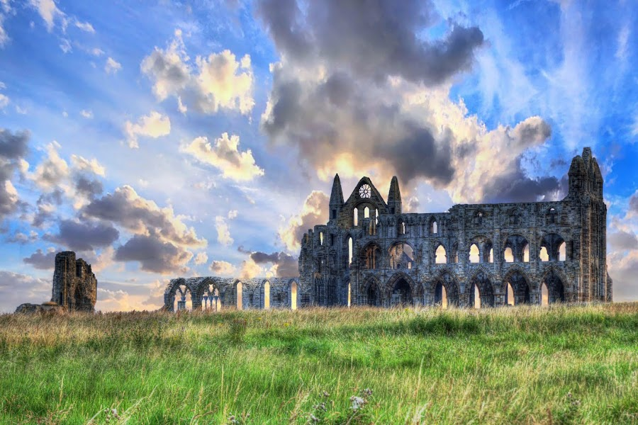 Sunrise over Whitby Abbey by Steve Bampton - Buildings & Architecture Decaying & Abandoned (  )