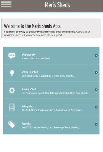The Men's Sheds App