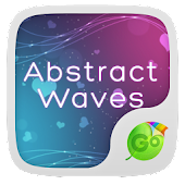 Abstract Waves Keyboard Theme