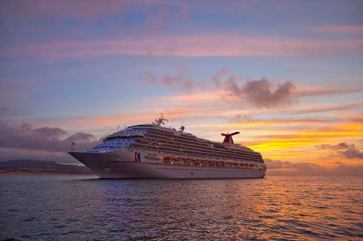 Carnival-Splendor-Cabo-1 - Sunset aboard the Carnival Splendor in Cabo San Lucas, Mexico.