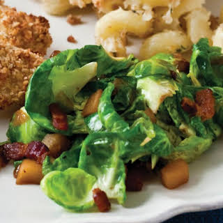 Sauteed Brussels Sprouts with Apples and Bacon.