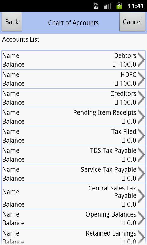 Accounter- screenshot