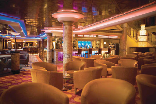 Norwegian-Pearl-Bar-Central - Relax with the drink and ambience of your choice at Norwegian Pearl's Bar Central, where a martini bar, a champagne bar, a whiskey and beer bar and a cigar club sit side by side.