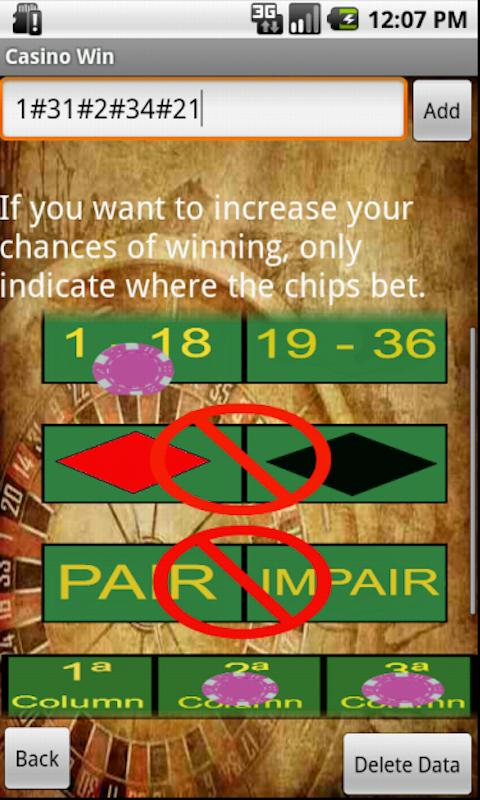 Casino Win PRO (Roulette Odds) - screenshot