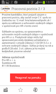 Profesia.sk - screenshot thumbnail