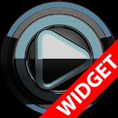 Poweramp widget - BLACK Petrol