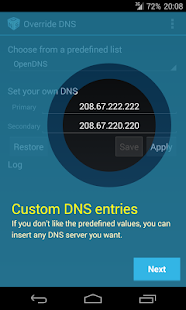 Override DNS (a DNS changer) - screenshot thumbnail