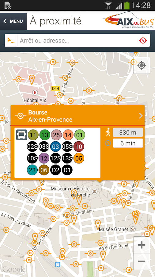 Aix en bus android apps on google play for Horaire bus salon aix