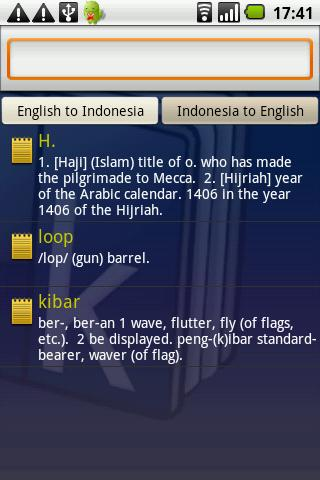 Kamus Dictionary Indonesia- screenshot