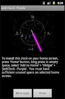Screenshot of JediClock - Purple