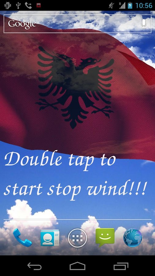 3D Albania Flag Live Wallpaper - screenshot