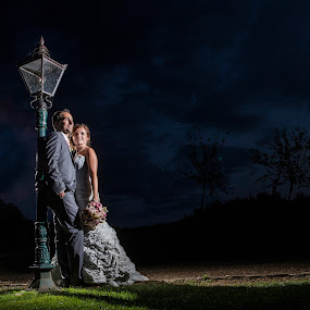 Nighttime couple by Martin Hill - Wedding Bride & Groom