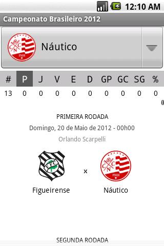 Campeonato Brasileiro 2012- screenshot