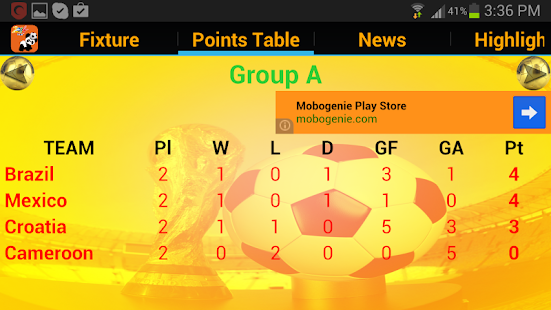 Football Fixtures News Scores- screenshot thumbnail