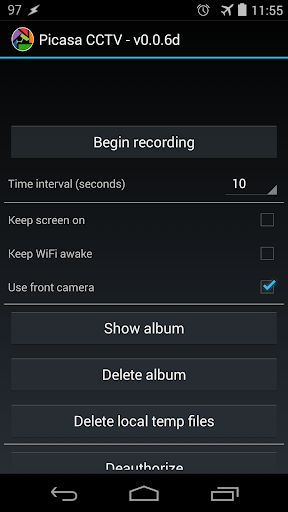 Picasa CCTV 안드로이드 2.3 이상