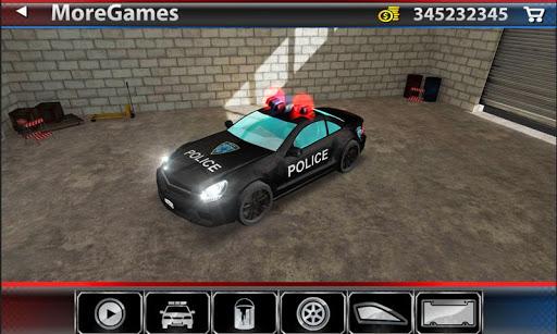 자동차 주차 3D : 경찰 자동차