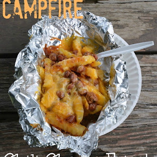 Campfire Chili Cheese Fries #Camping #70DayRoadTrip.