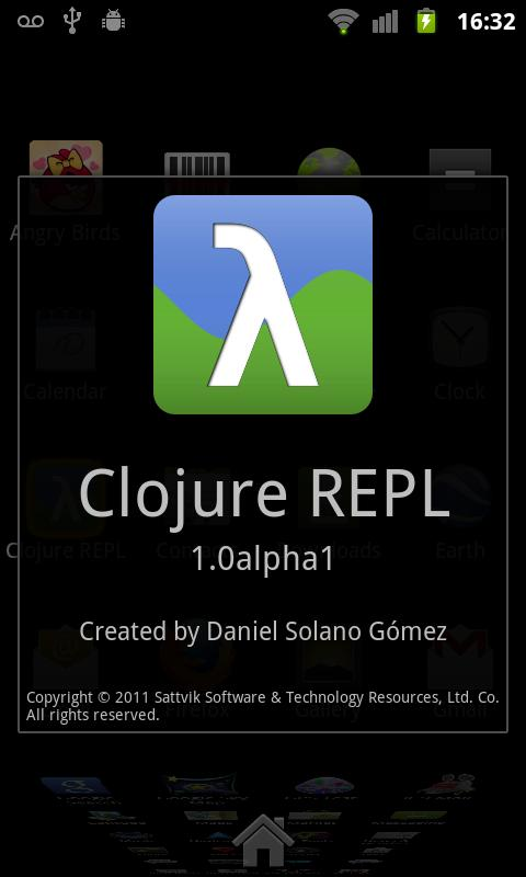 Clojure REPL - screenshot