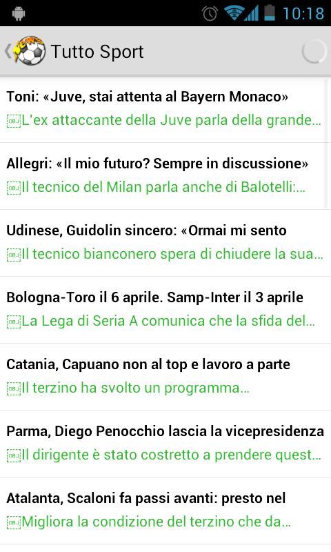 Calcio News - screenshot