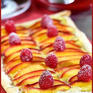 Nectarine and Raspberry Tart