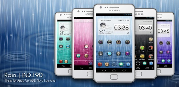 Theme Multi Launcher For Android   RAIN by IND190