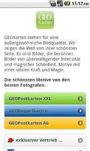 GEOPostkarten- screenshot thumbnail
