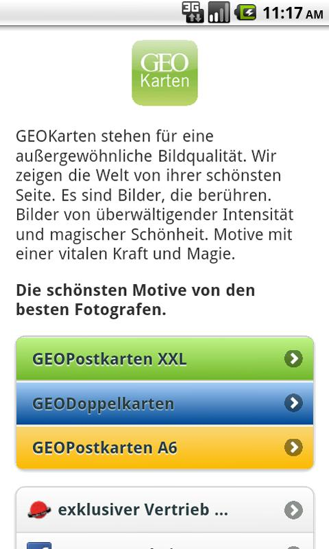 GEOPostkarten - screenshot