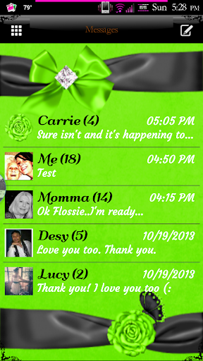 Simply Lime GO SMS PRO Theme