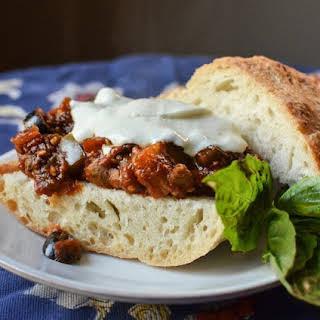 Eggplant Caponata Sandwiches.
