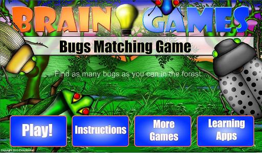 Bugs Matching Game