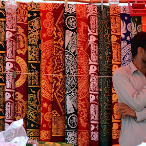 Embroidered cloths by Syed Rixvi - City,  Street & Park  Markets & Shops ( market, stall, embroidered, heritage, culture )