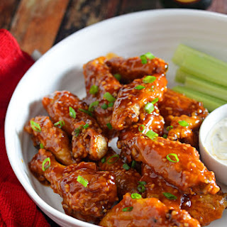 Cripsy-Skinned Baked Chicken Wings + Honey Chipotle Garlic Sauce